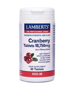 Cranberry Lamberts 60 Tabletas