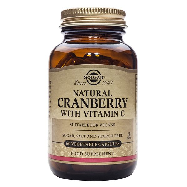 Natural Cranberry with Vitamin C Solgar (60 Cap)