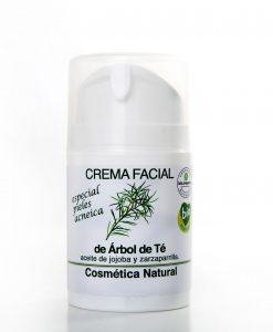 crema facial de arbol de te Equimercado 50 ml - pieles acneicas